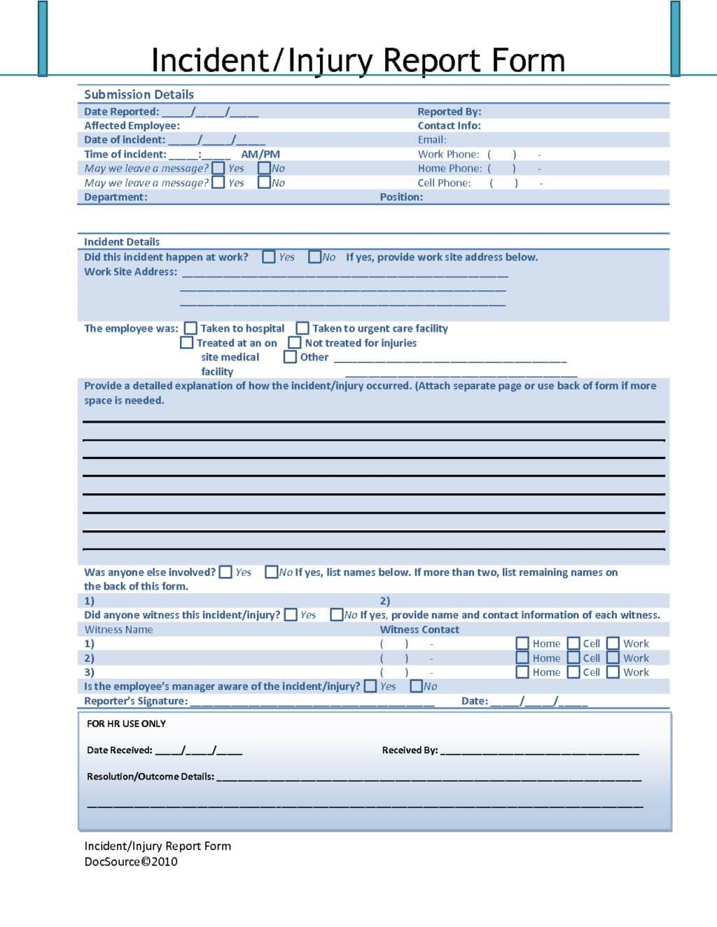 Sample Of Security Incident Report Form And Cyber Security Incident Report Template