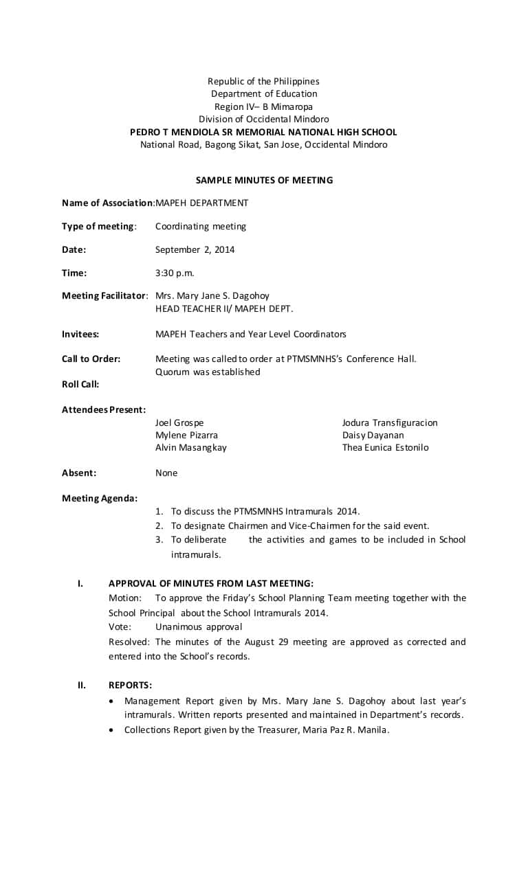 Board Meeting Report Sample And Ceo Monthly Report Template