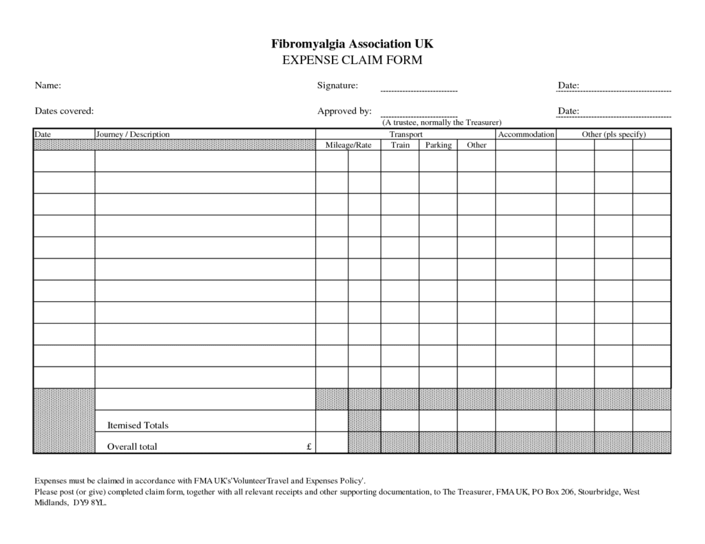 Monthly Expense Report Template And Sales Expense Report Template