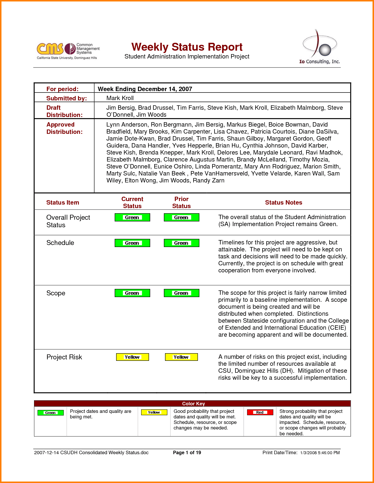 Monthly Project Status Report Template Excel And Project Status Report Template Excel Format