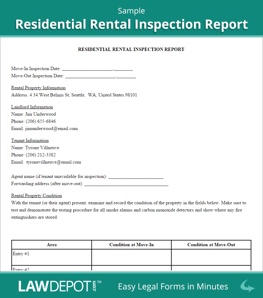 Free Sample Home Inspection Report Template And Printable Home Inspection Blank Forms