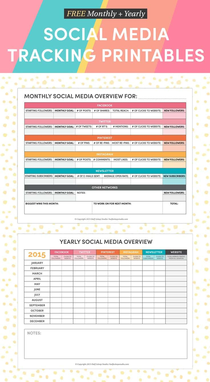 Social Media Report Powerpoint Template And Social Media Report Example