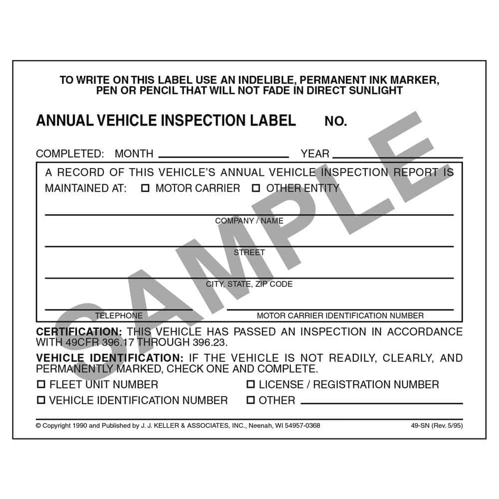 Vehicle Inspection Checklist Form Free Download And Daily Vehicle Inspection Report Template