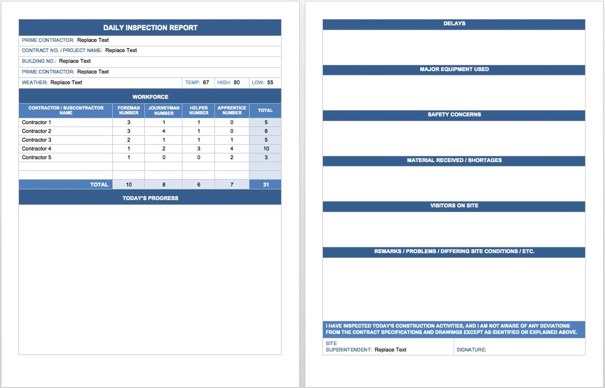 Weekly Activity Report Template Word And Monthly Sales Activity Report Template Excel