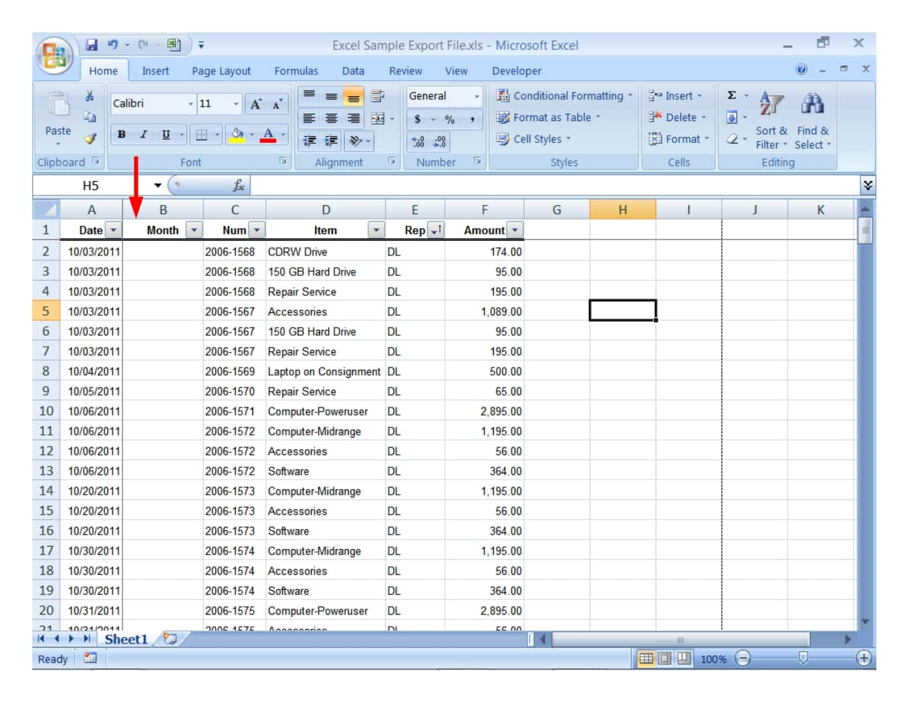 Example Of An Excel Worksheet With An Embedded Chart And Example Of A Worksheet In Excel