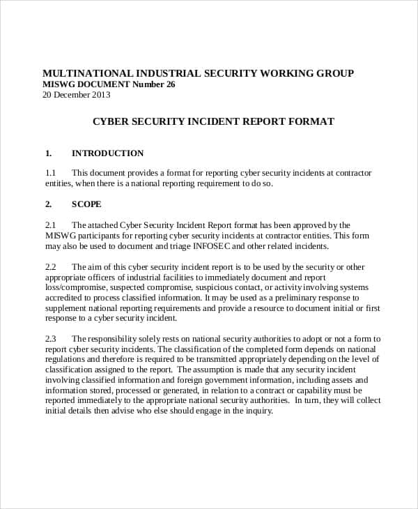Example Of Security Guard Report Writing And Security Guard Incident Report Example