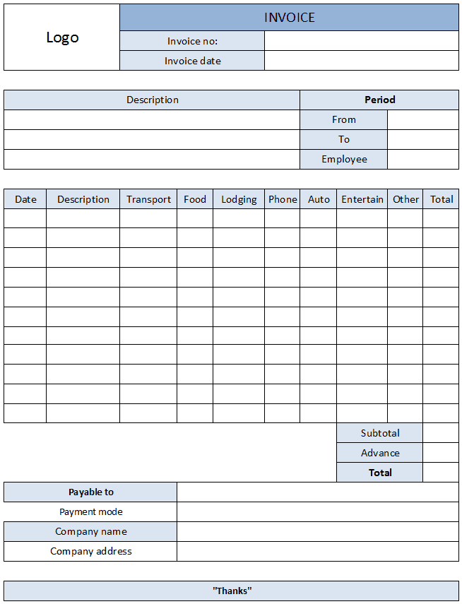 Free Expense Report Form Pdf And Business Expense Report Template