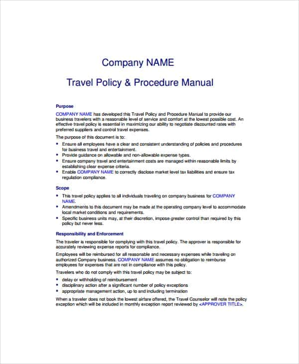 Travel And Expense Policy Best Practices And Corporate Travel Planners