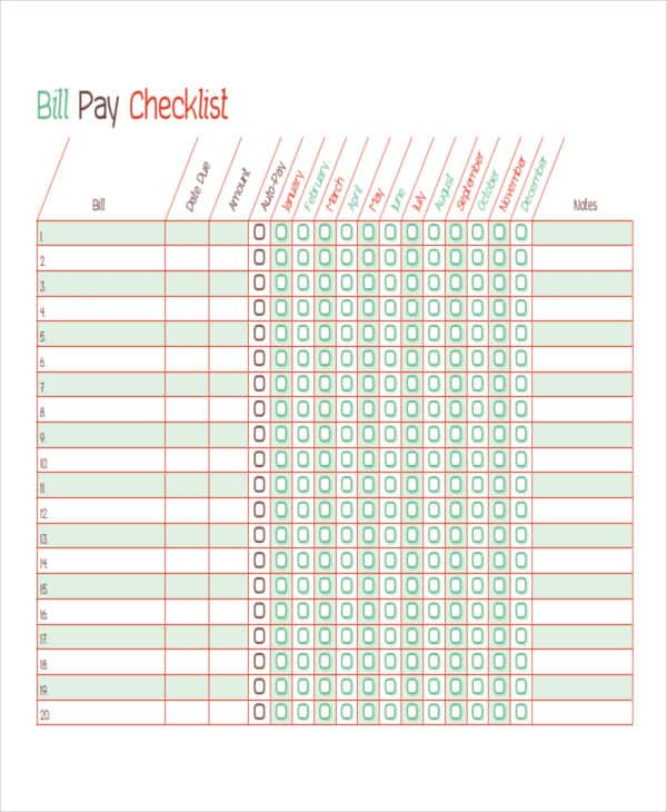 Bill Payment Schedule Template Excel And Payment Schedules Template Google Docs