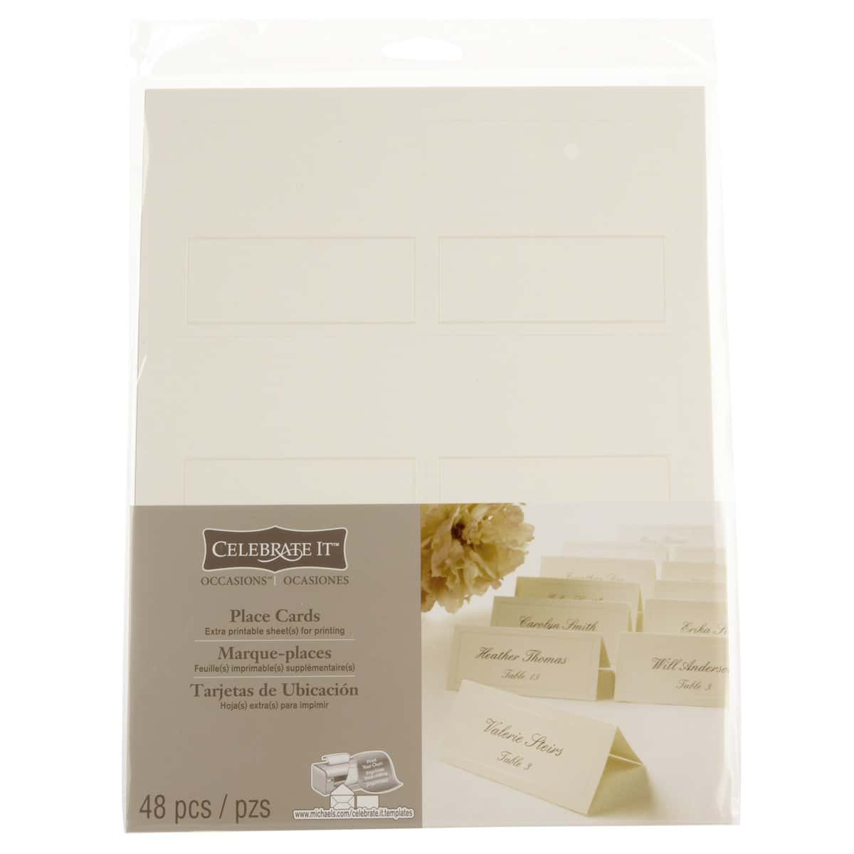 Celebrate It Place Cards Template And Fold Over Card Template