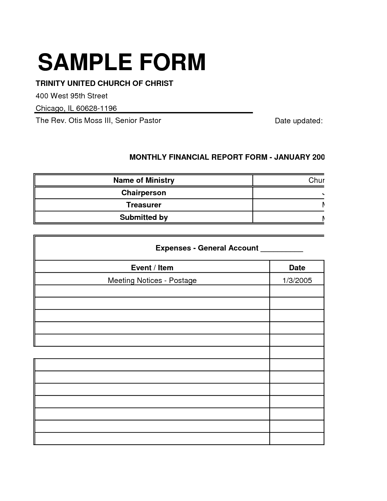 Church Balance Sheet Sample And Free Church Balance Sheet Sample
