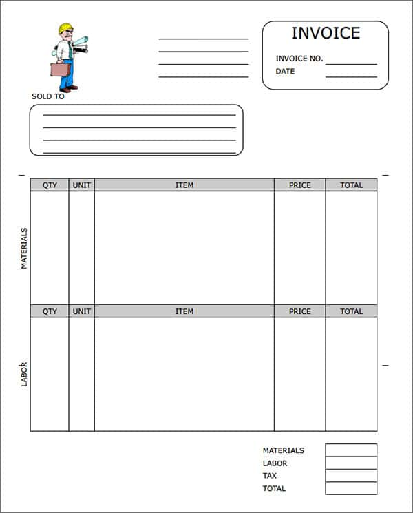 Contractor Invoice Template Word Free And Contractor Invoice Template Google Docs