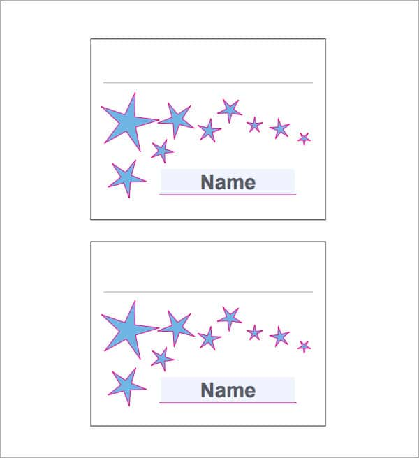 Free Blank Place Card Template And Place Card Template Indesign