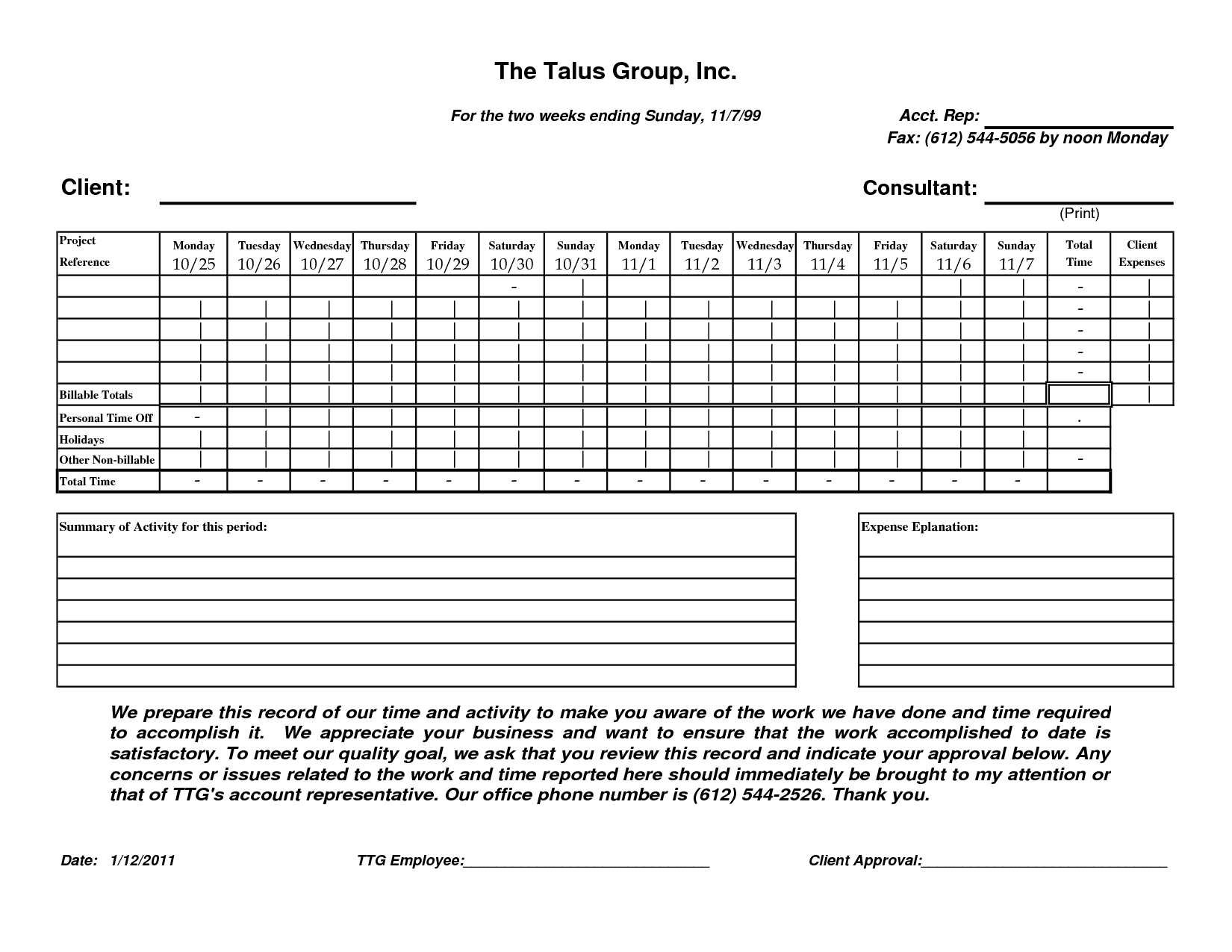 Free Construction Timesheet And Daily Construction Timesheet Templates