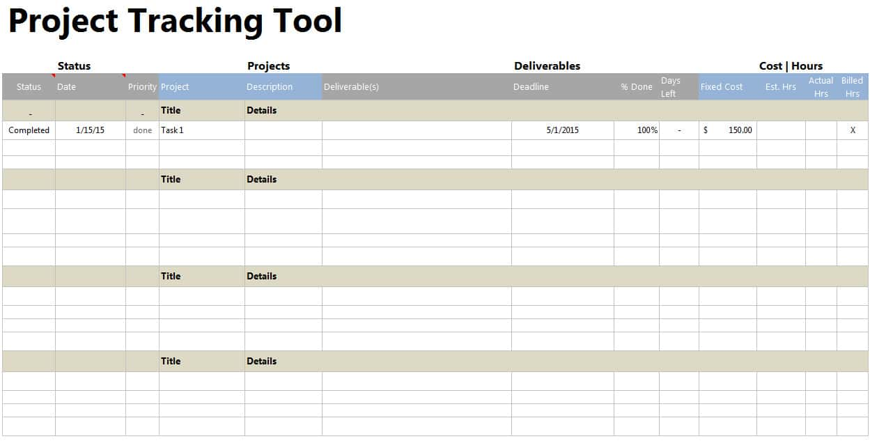 Free Excel Construction Project Management Tracking Templates And Simple Project Plan Template