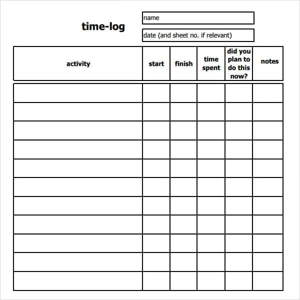 Free Sample Timesheets And Sample Daily Time Sheet Excel
