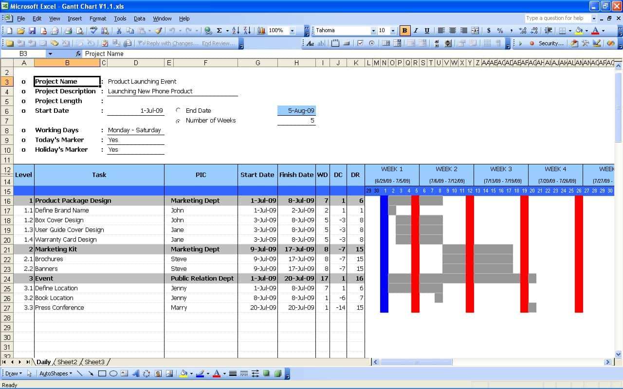 Microsoft Excel Gantt Chart Template Free Download And Free Excel Gantt Chart Template Download Uk