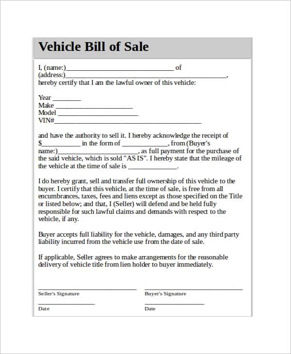 Microsoft Word Equipment Bill Of Sale Template And Equipment Bill Of Sale Word