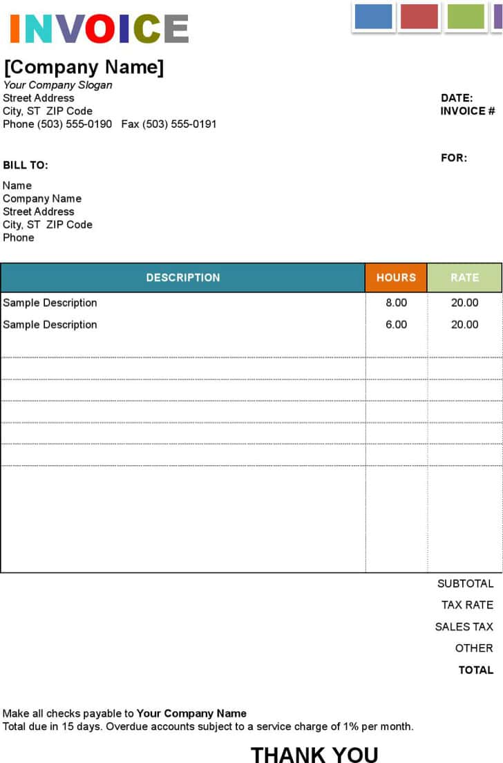Painter Invoice Example And House Painting Invoice Sample