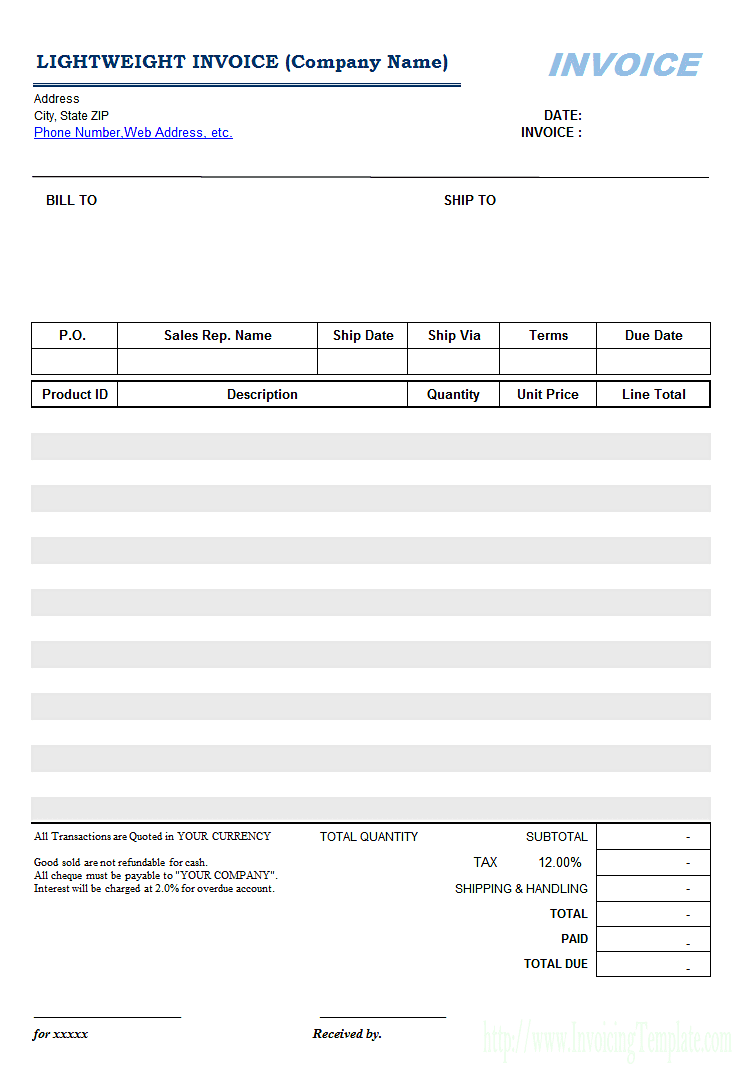 Restoration Invoice Template And Water Damage Flood Restoration