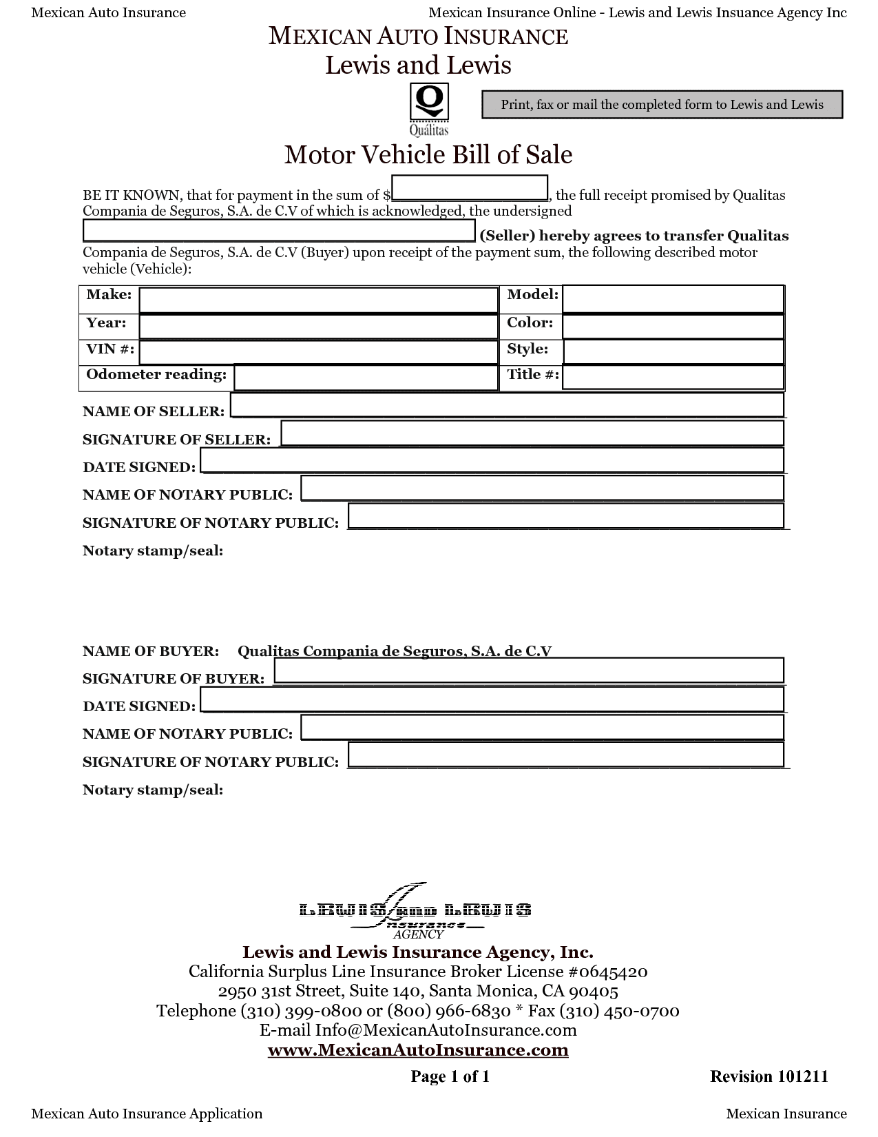 Texas Vehicle Bill Of Sale Form Pdf And Bill Of Sale For Car
