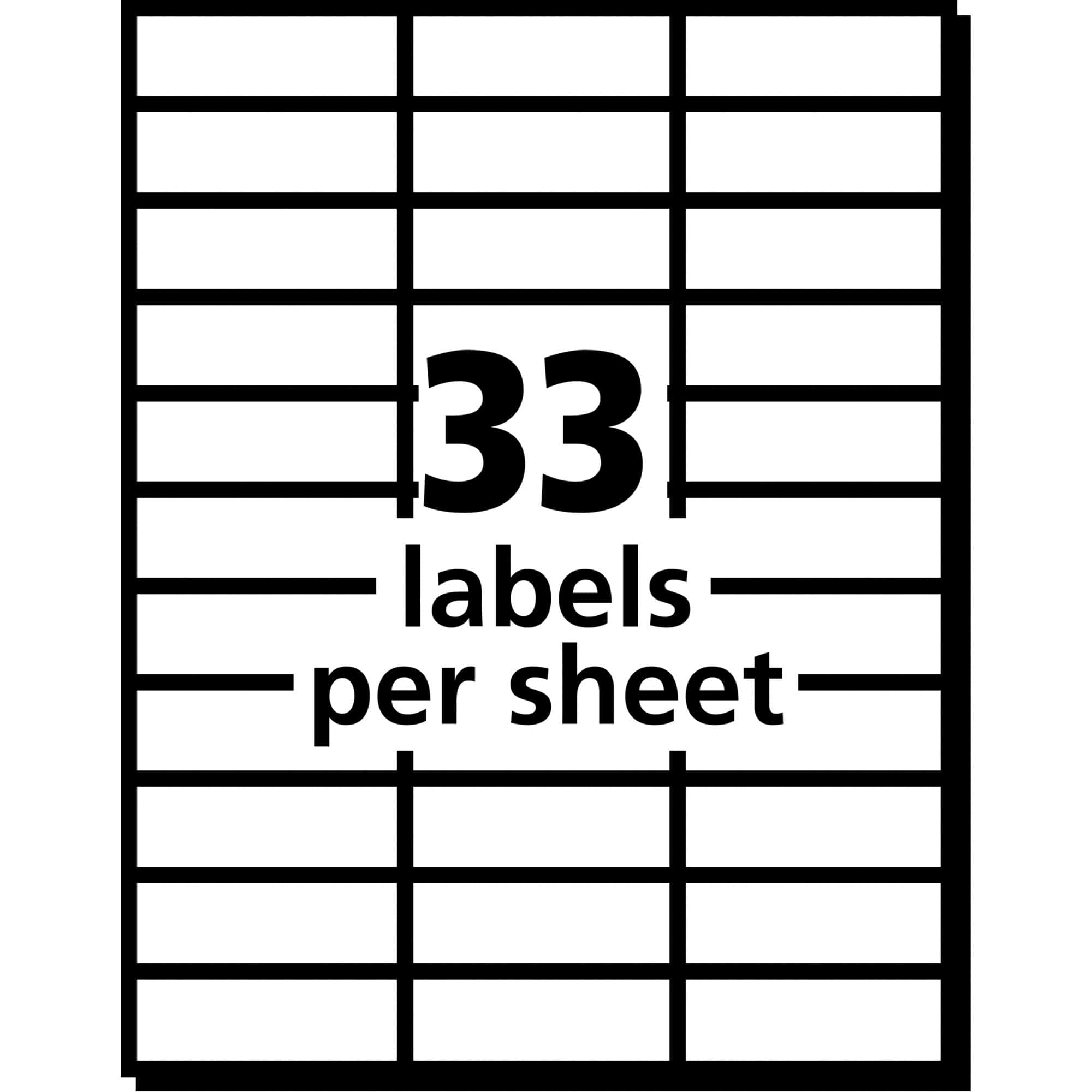 33 Labels Per Sheet Template And Label Template 33 Labels Per Sheet