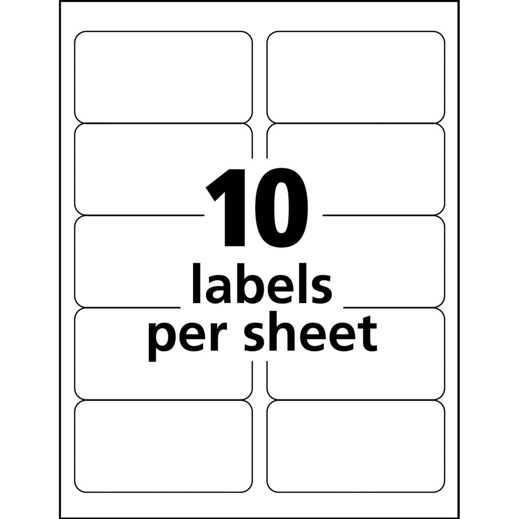 4 X 2 Label Template 3 Per Sheet And A4 Label Template 4 Per Sheet Landscape