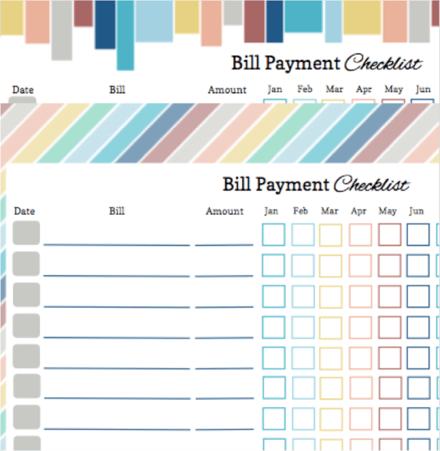 Bill Pay Monthly Template And Bill Pay Calendar Template
