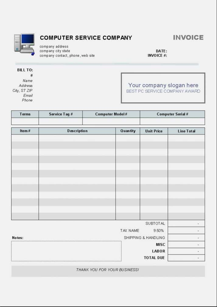 Downloadable Commercial Invoice Template And Download A Invoice Template For Free