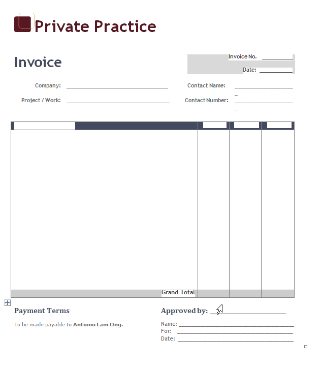 Downloadable Invoice Template For Excel And Free Downloadable Blank Invoice Template