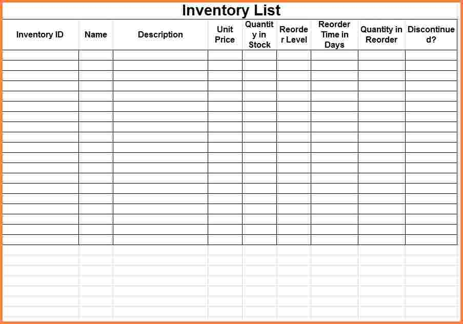 Food Stocktake Template And Inventory Tracking System Excel