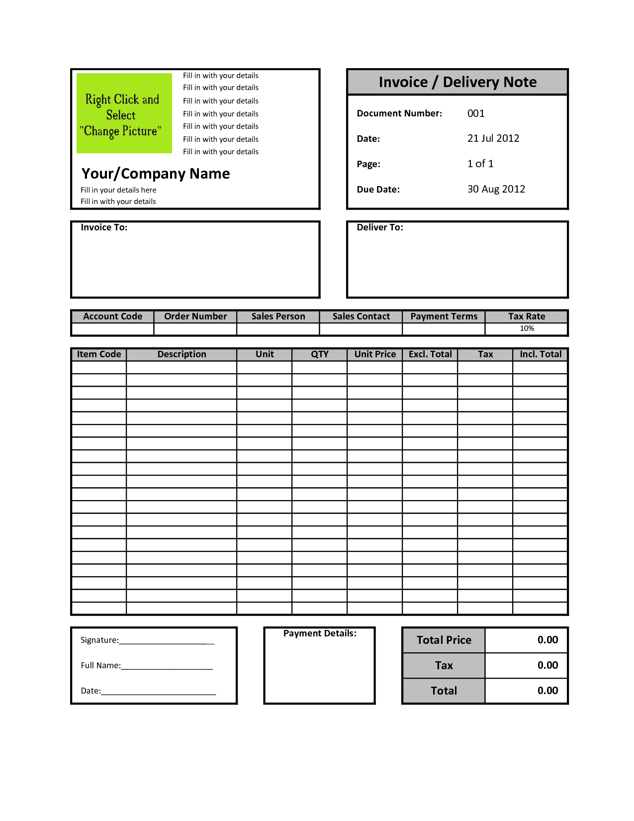 Free Printable Invoice Templates And Bill Book Format Pdf