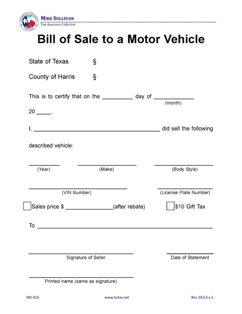 Motor Vehicle Bill Of Sale Template Pdf And Motor Vehicle Bill Of Sale Templates Microsoft Office