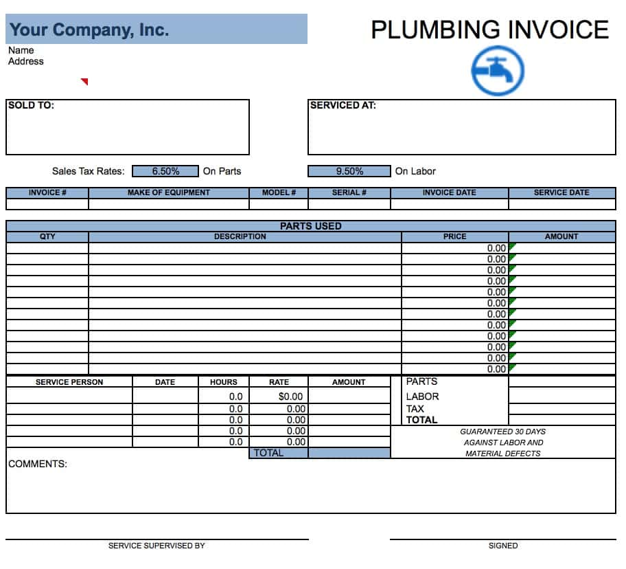 Painting Service Invoice Template And Painting Invoice Forms