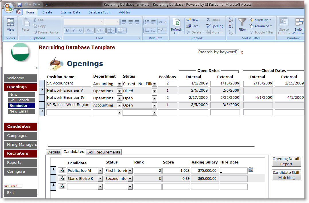 Access Invoice Database Template Free And Microsoft Access Contract Management Template
