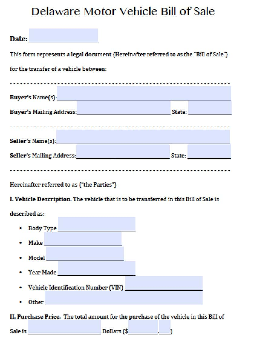 Bill Of Sale Template Ontario Trailer And Private Car Sale Bill Of Sale Template Ontario