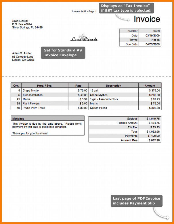 Blank Invoice Template Excel And Free Printable Billing Invoice Template