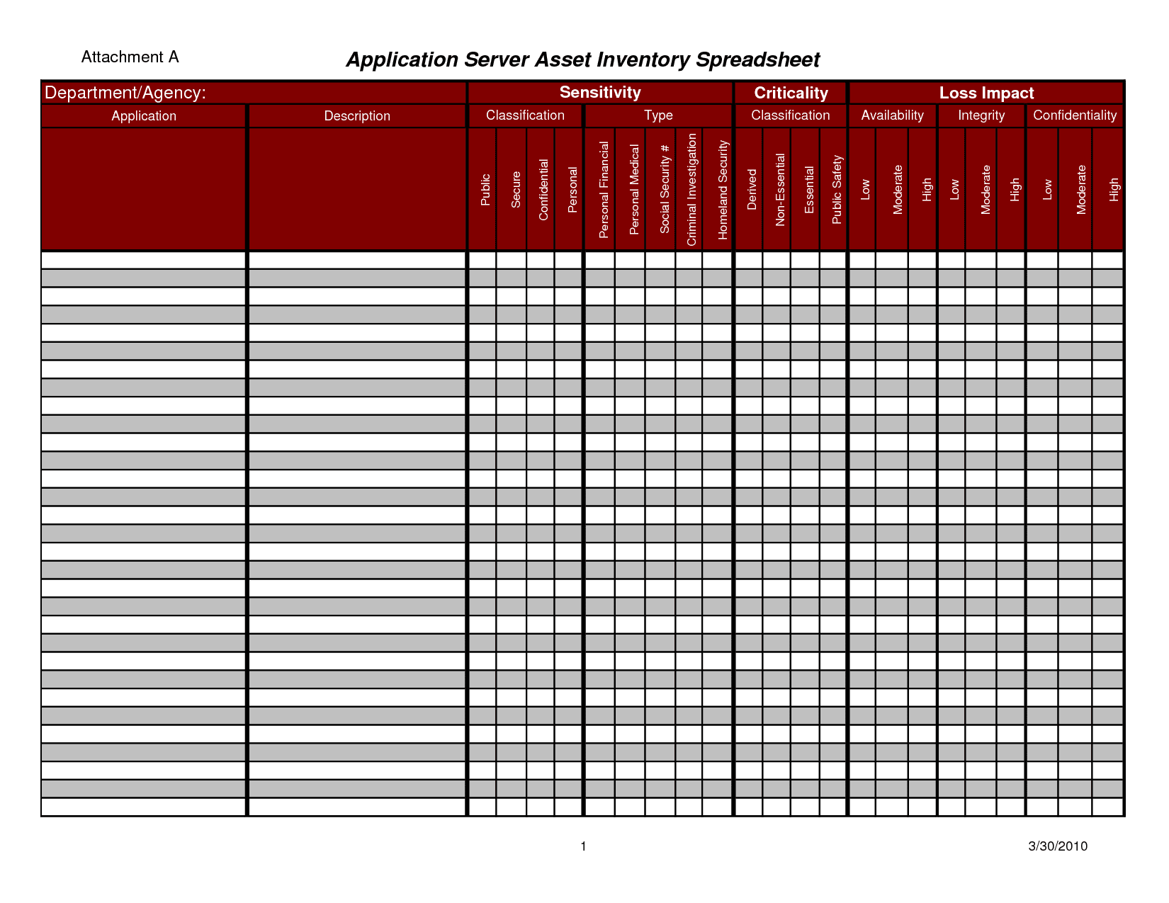 Equipment Inventory Template And Stock Record Keeping Excel Sheet