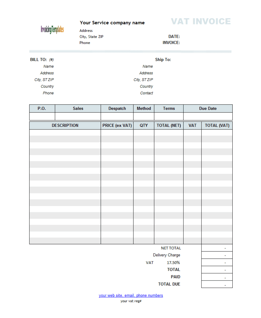 House Cleaning Invoice Free And Electronic Invoice Template