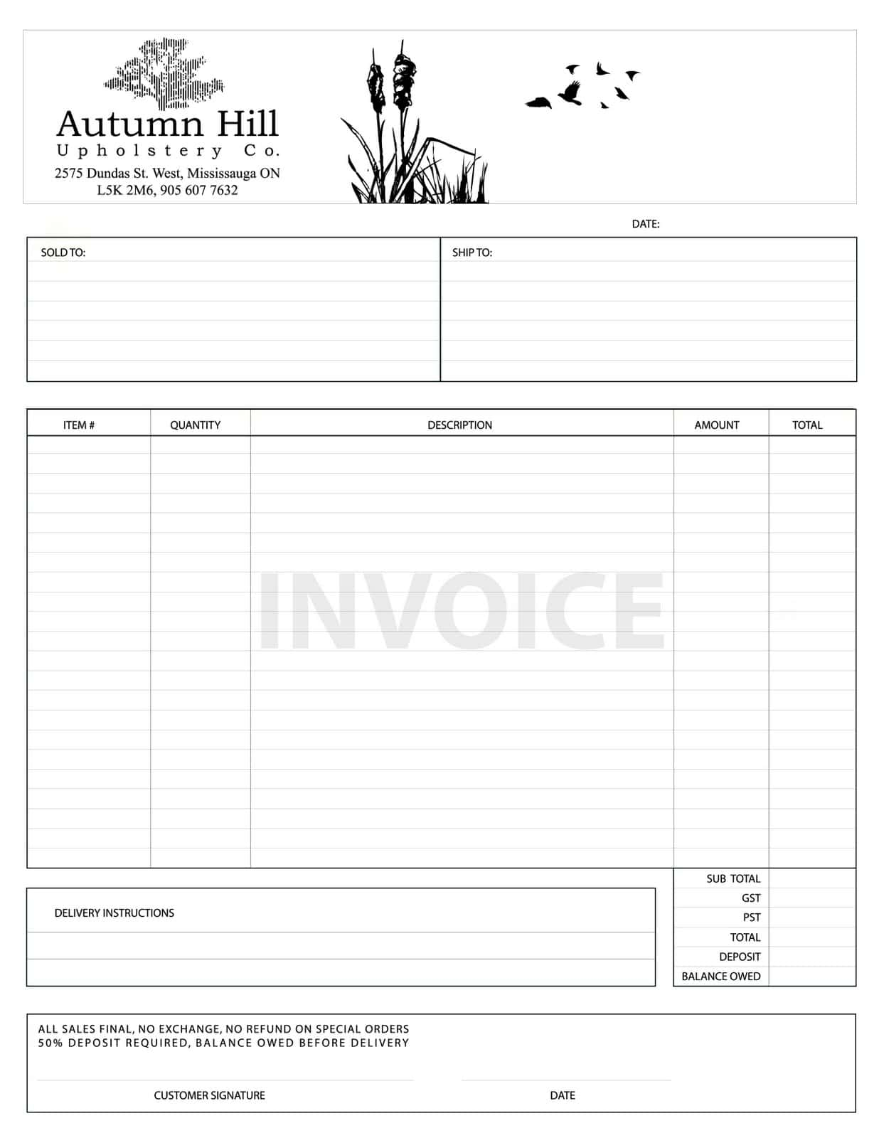 Invoice Template For Graphic Designers And Invoice Sample For Interior Design Works