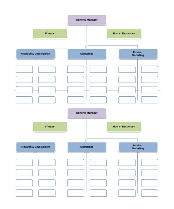 Microsoft Excel 2010 Organizational Chart Template And Organizational Chart With Responsibilities Template