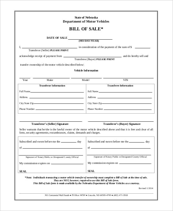 Motor Vehicle Bill Of Sale Template Pdf And Motor Vehicle Bill Of Sale Template Word
