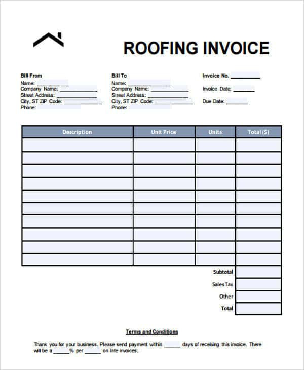 Roofing Estimate Forms And Metal Roofing Estimate Template