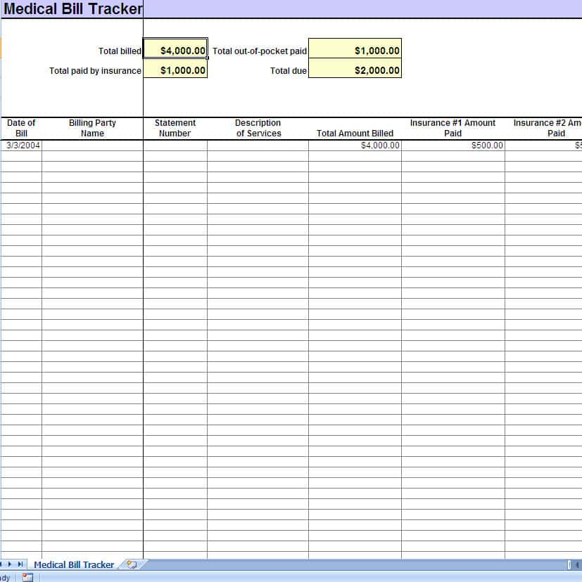 Excel Template For Bills And Payments And Excel Spreadsheet Template For Monthly Bills