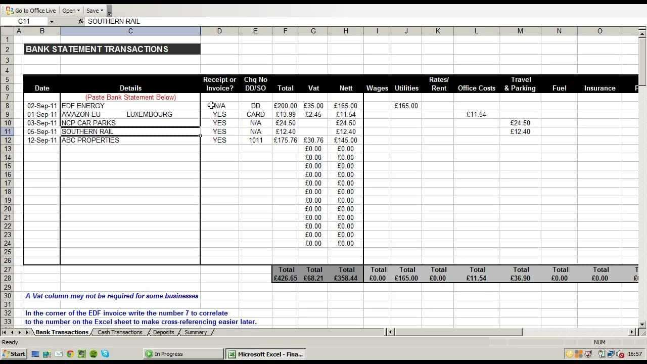 Excel Template For Budget And Excel Templates For Bill Payments