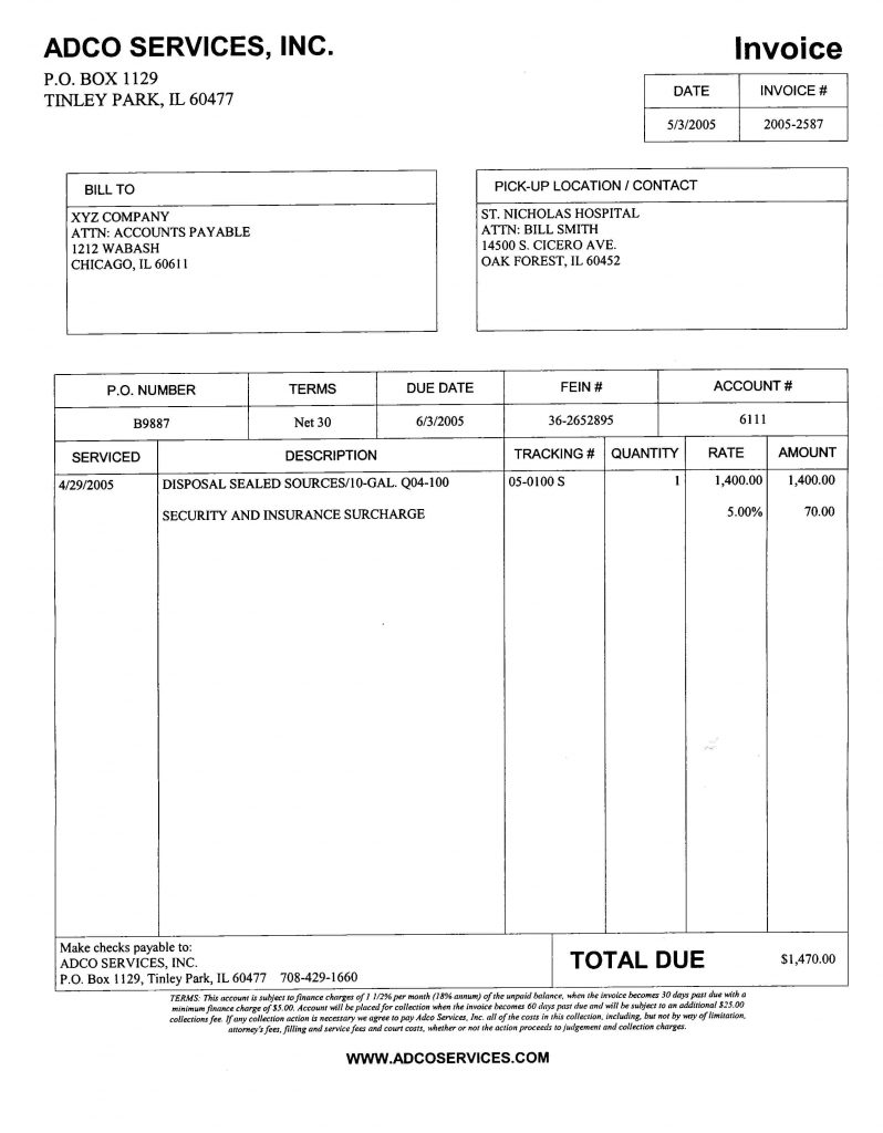 Fake Invoice Template And Free Invoice Software