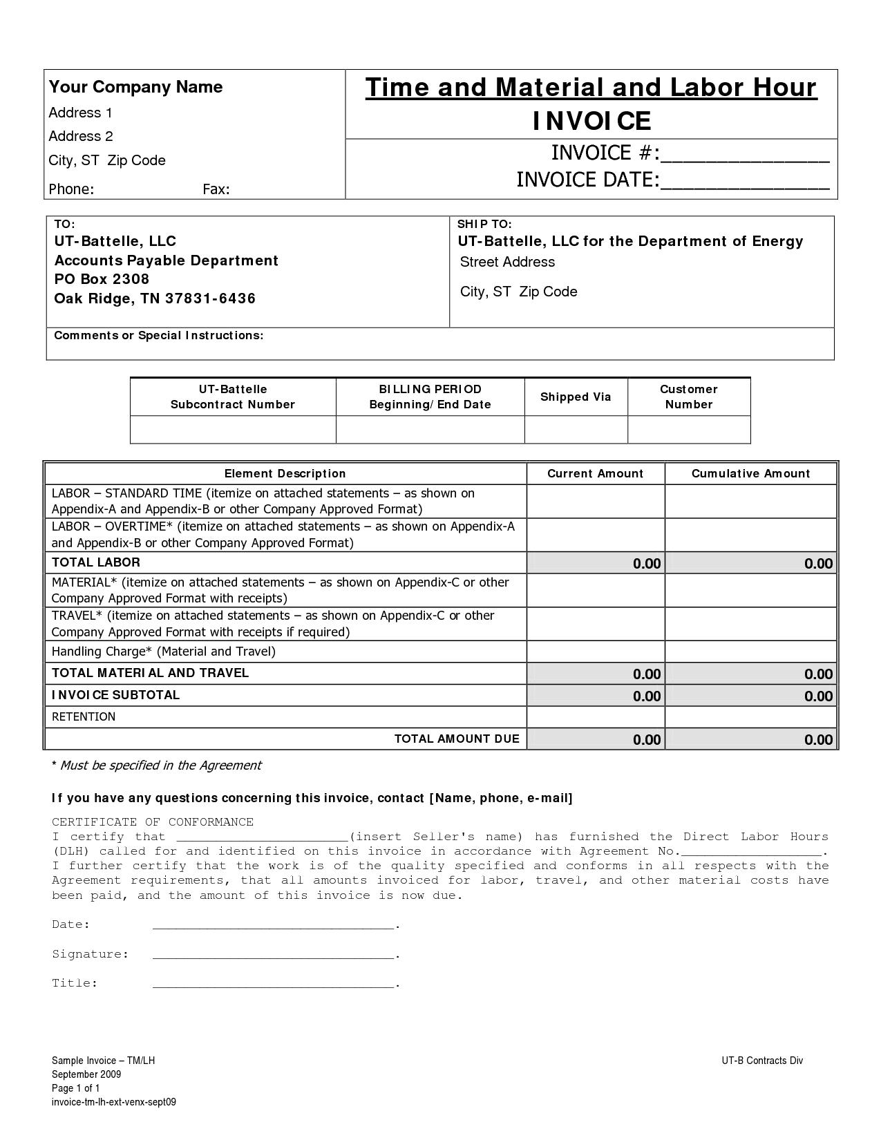 Free Editable Invoice Template Pdf And Cash Invoice Template