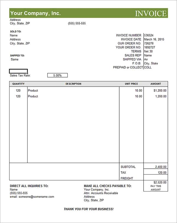 Free Medical Billing Statement Template And Basic Invoice Template