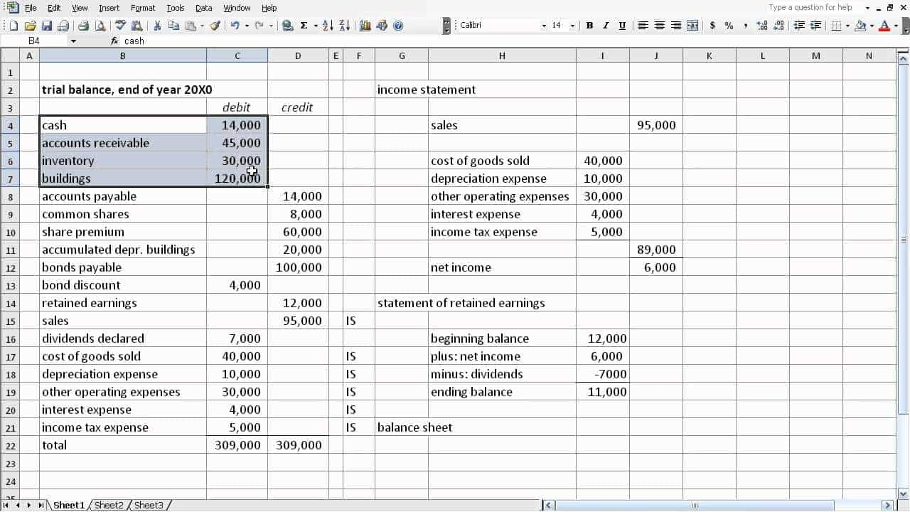 How To Make Trial Balance From Ledger In Excel And Generic Balance Sheet Template