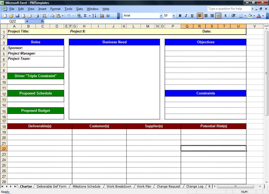 Project Timeline Template Excel And Workstream Template